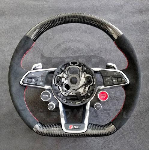 2015 Audi R8 Custom Carbon Fiber Steering Wheel