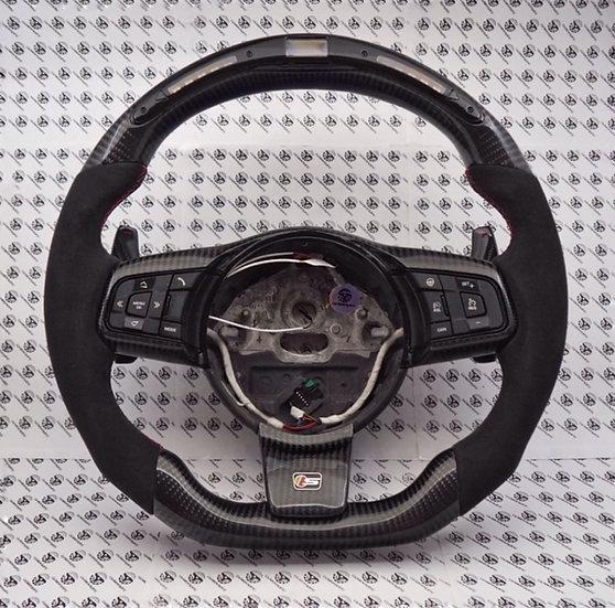 2014+ Jaguar F-Type LED Shift Light Custom Carbon Fiber Steering Wheel