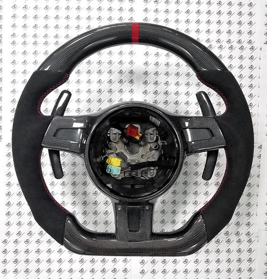 2012+ 991.1 Porsche Custom Carbon Fiber Steering Wheel Style 1