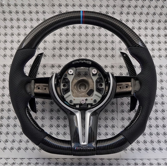F Series 1-4 | X 1-6 | M2, M3, M4 DCT Paddle Shifter Carbon Fiber Steering Wheel
