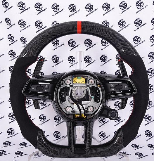 2019+ Porsche Custom Carbon Fiber Steering Wheel Style 1