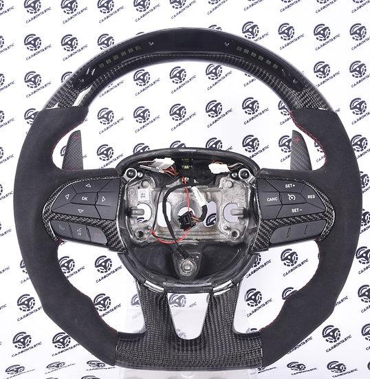 2015-2019 Charger/Challenger SRT Custom Carbon Steering Wheel with Shift Light
