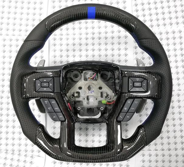 2017+ Ford Raptor Custom Carbon Fiber Steering Wheel Style 3