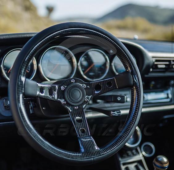 Singer Style Custom Carbon Fiber Steering Wheel (MOMO Mod7)