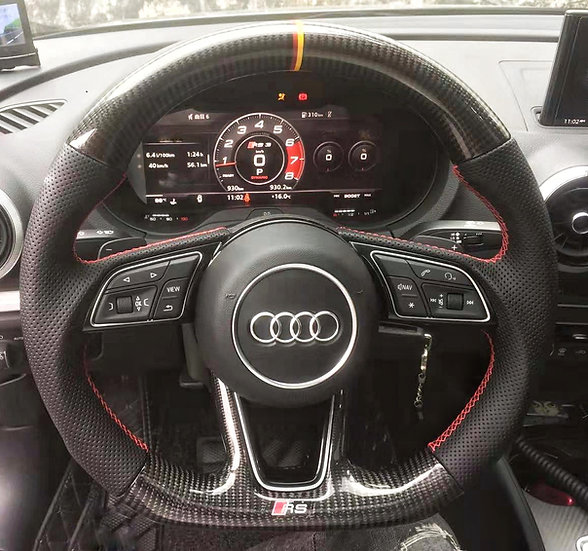 Audi A3/A4/A5 Custom Carbon Fiber Steering With Paddle Shifter(non-sport)