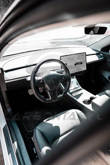 Tesla Model 3/Y Custom Carbon Fiber Steering Wheel
