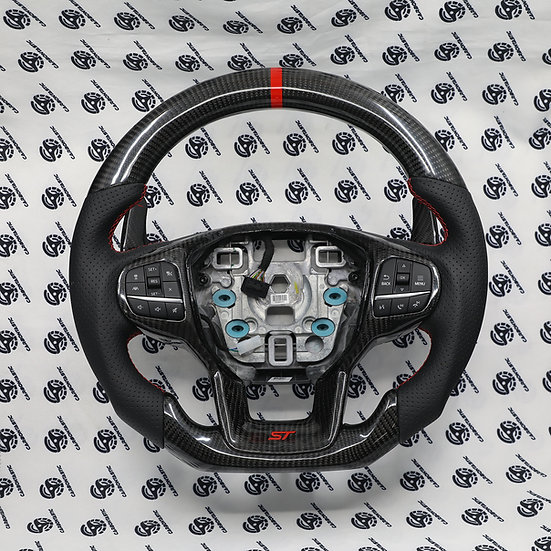 2020+ Ford Explorer Custom Carbon Fiber Steering Wheel (With paddle shifter)