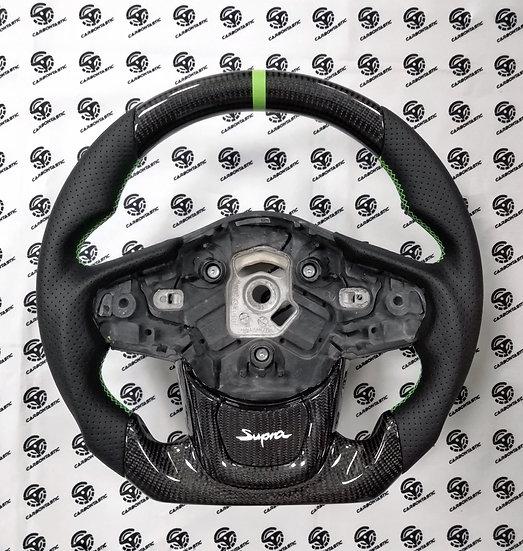2020+ Toyota A90 Supra Custom Carbon Fiber Steering Wheel OEM Style