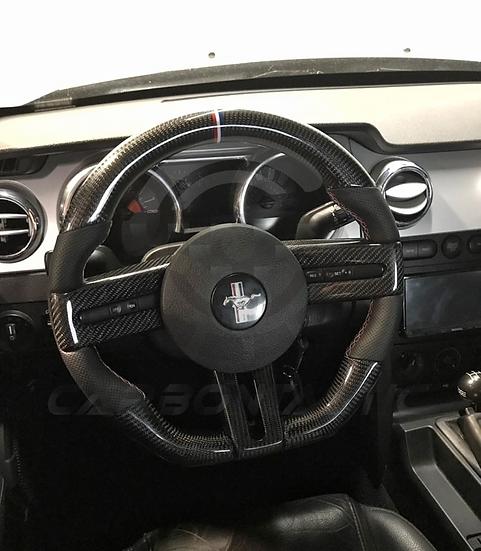 2005+ Ford Mustang Custom Carbon Fiber Steering Wheel