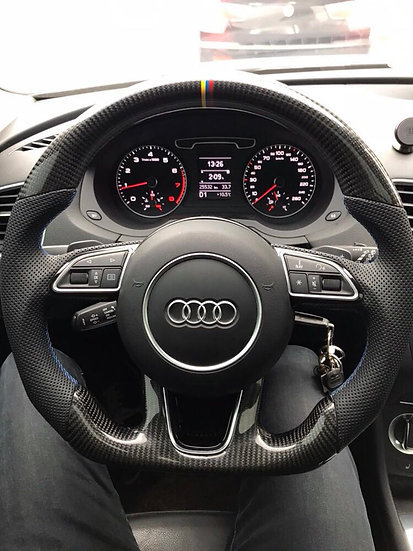 2012+ Audi Q7 Custom Carbon Fiber Steering Wheel (Paddle shifted)