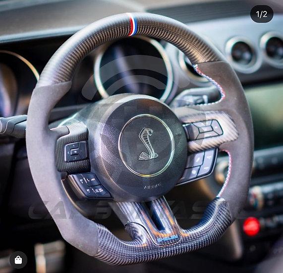 2015-2017 Ford Mustang Custom Carbon Fiber Steering Wheel
