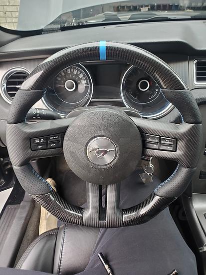 2010-2014 Ford Mustang Custom Carbon Fiber Steering Wheel