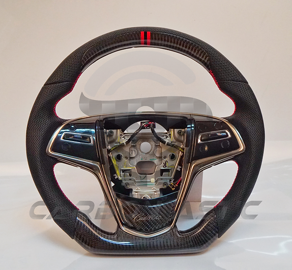 2014+ ATS-V/CTS-V Custom Carbon Fiber Steering Wheel Paddle Shifted Style 3