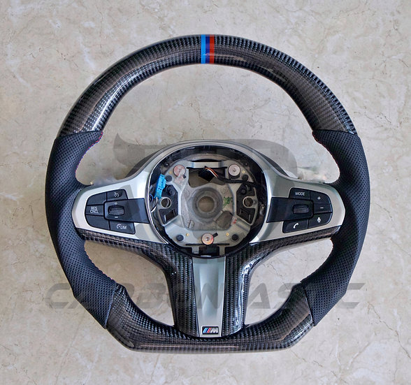 BMW G Series Custom Carbon Fiber Steering Wheel Sport (NON-Paddle Shifted)