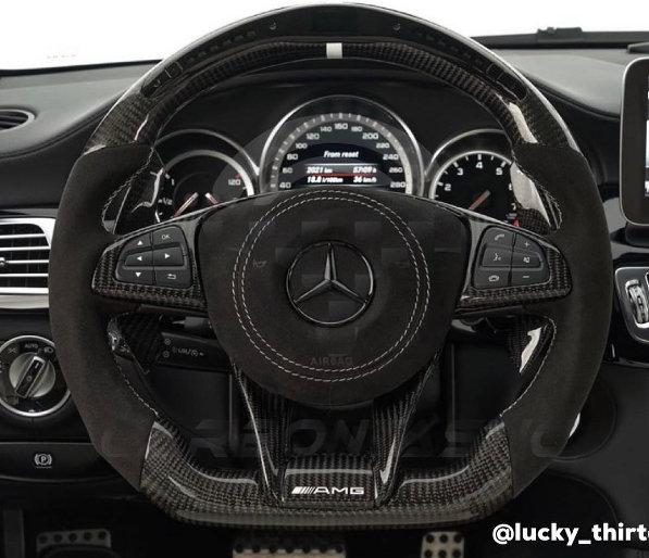 2016+ Mercedes-Benz AMG Custom LCD Screen Shift Light Steering Wheel