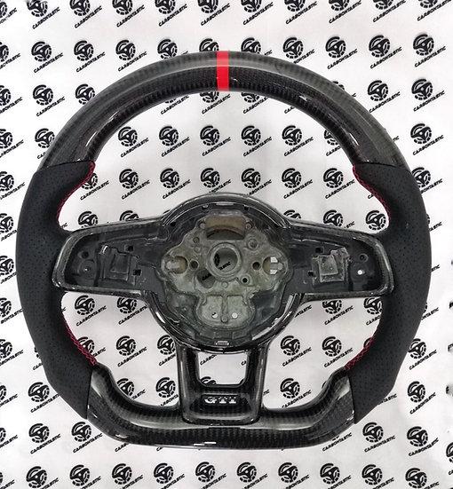 2015+ MK7 GTI Custom Carbon Fiber Steering Wheel (MANUAL)