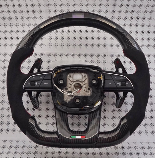 Lamborghini Urus Custom Carbon Fiber Steering Wheel with LED shift light