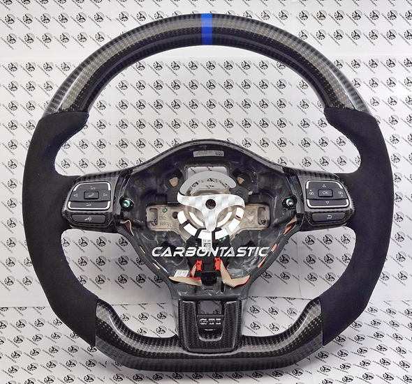 2011+ MK6 GTI Custom Carbon Fiber Steering Wheel (Manual)