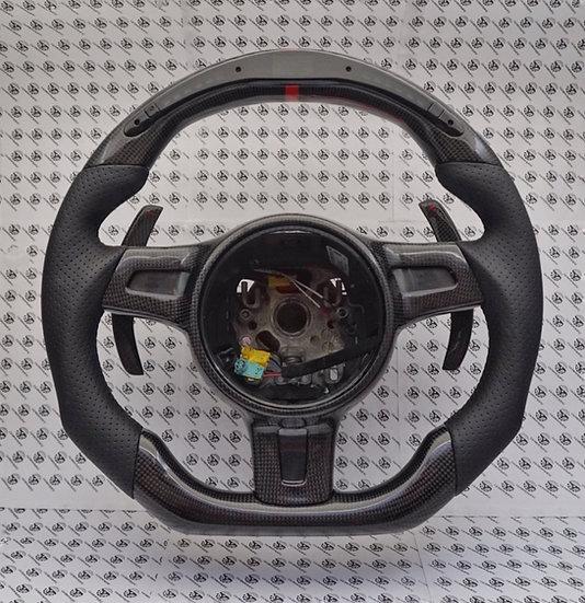 2012+ 991.1 Porsche Custom Carbon Fiber Steering Wheel with LED Shift Light