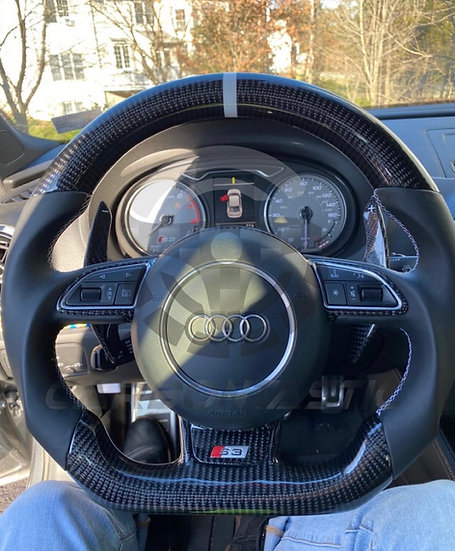 Audi A3/A4/A5/A6/A7/A8 S/RS Custom Carbon Fiber Steering With Paddle Shifted