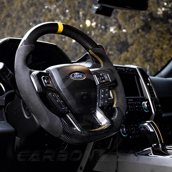 2017+ Ford Raptor Custom Carbon Fiber Steering Wheel