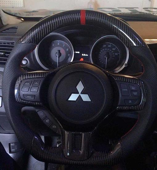 Mitsubishi EVO X/ Ralliart/ Lancer Custom Carbon Fiber Steering Wheel