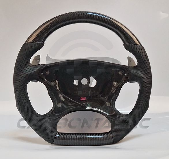 2003+SL/SLK-Class Custom Carbon Fiber Steering Wheel With Paddle Shifter Cut Out
