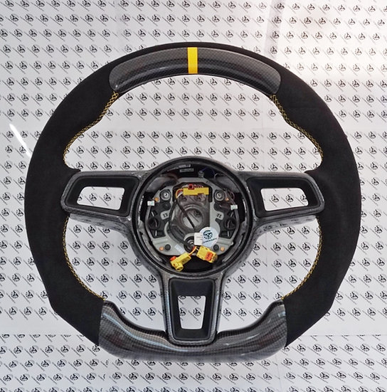2015-2018 Porsche Custom Carbon Fiber Steering Wheel Style 3 (Manual)