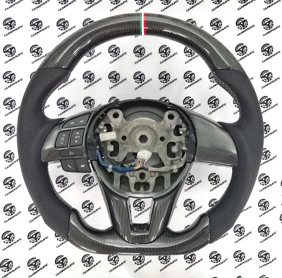 2014+ Mazda 3 Custom Carbon Fiber Steering Wheel