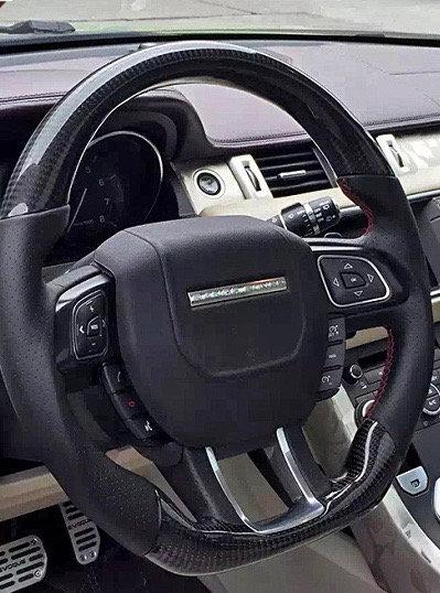 2012+Range Rover Evoque Custom Carbon Fiber Steering Wheel (Paddle Shifted)