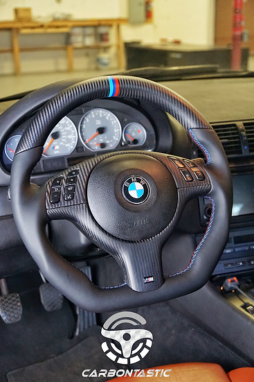 Throtl Special E46/E39 Non-Paddle Shifted Carbon Fiber Steering Wheel