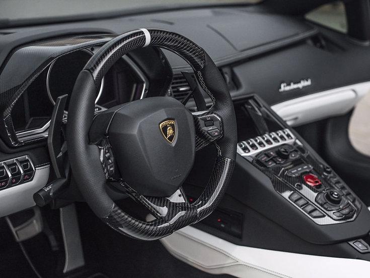 Lamborghini Avantador Custom Carbon Fiber Steering Wheel