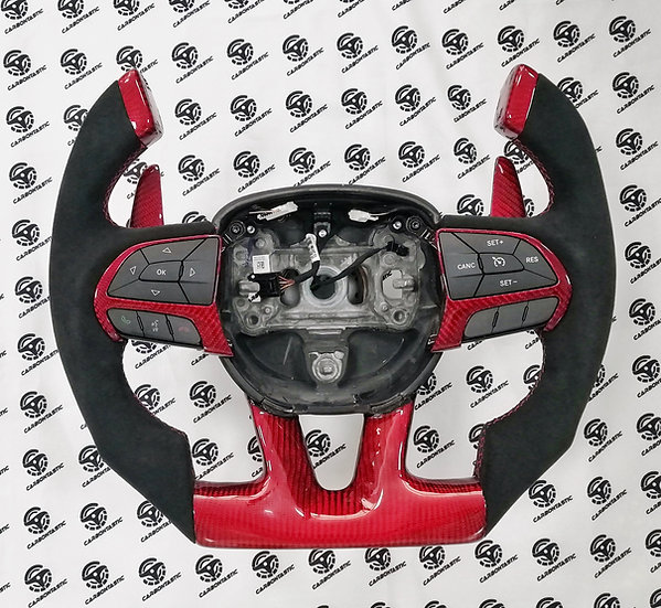 2015-2019 Charger/Challenger SRT Custom Carbon Steering Wheel Fighter Jet Style