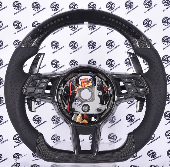 2015-2018 Porsche Custom Carbon Fiber Steering Wheel with LED Shift Light