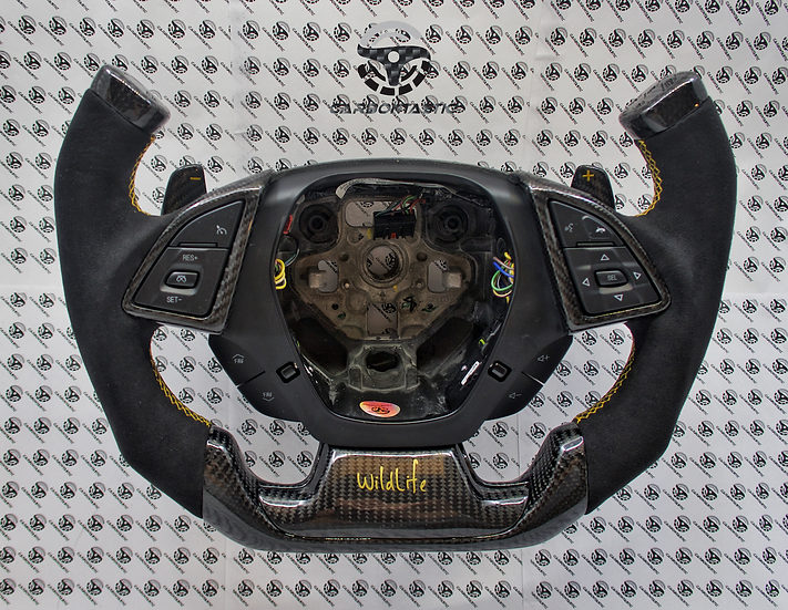 2016+ Camaro Custom Carbon Fiber Steering Wheel Paddle Shifted(Wildlife Edition)