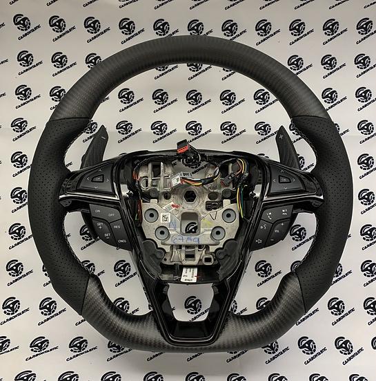 2015-2018 Ford Edge/Fusion Custom Carbon Fiber Steering Wheel(Paddle Shifted)