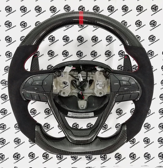 2014+ Grand Cherokee Custom Carbon Fiber Steering Wheel (Paddle shifted)