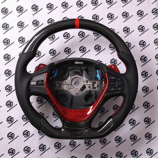 F series Sport Line Carbon Fiber Steering Wheel with DCT paddle shifter