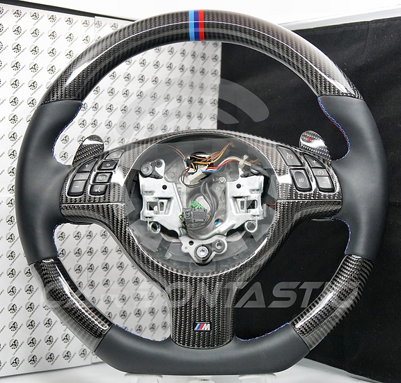 E46 M3 SMG Vehicle's Carbon Fiber Steering Wheel Style 2