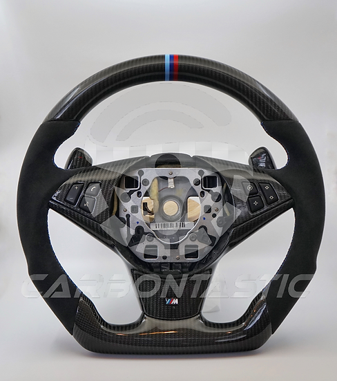 2006+ E60/63/64 M5/M6 SMG Paddle Shifted Carbon Fiber Steering Wheel Style 1
