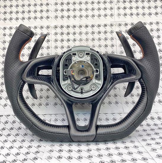 570s/570GT/600LT/650s/675LT/MP4-4C Custom Carbon Fiber Steering (Fighter Jet)