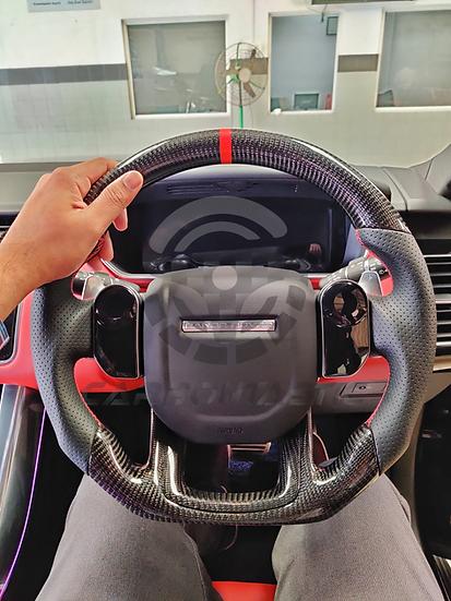 2013+Range Rover Sport Custom Carbon Fiber Steering Wheel (Paddle Shifted)