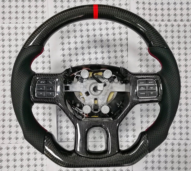 2012+ Ram 1500/2500 Custom Carbon Fiber Steering Wheel