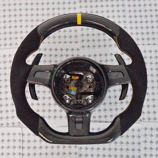 2012+ 991.1 Porsche Custom Carbon Fiber Steering Wheel Style 3