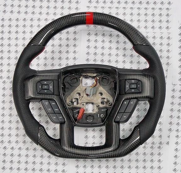 2015+ Ford F-150/250/350 Custom Carbon Fiber Steering Wheel