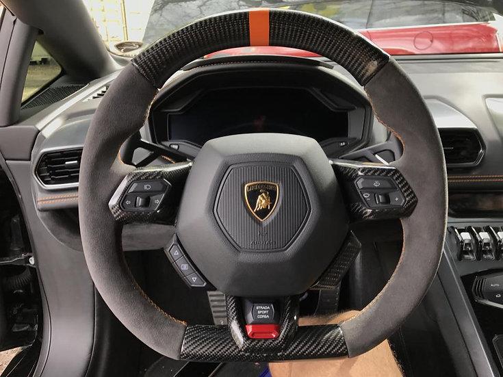 Lamborghini Huracan Custom Carbon Fiber Steering Wheel