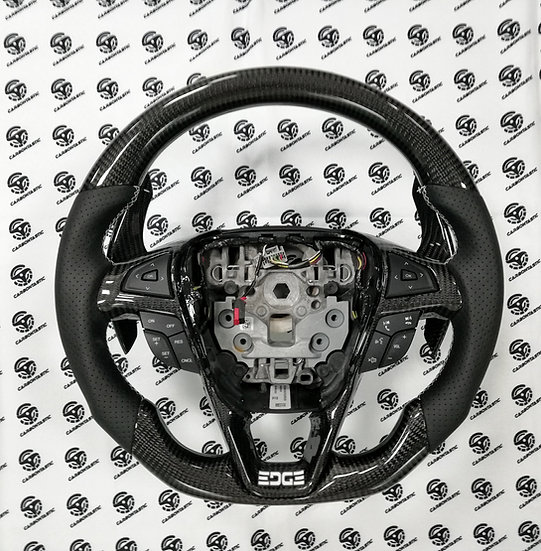 2015-2018 Ford Edge/Fusion Custom Carbon Fiber Steering Wheel(Paddle Shifted)