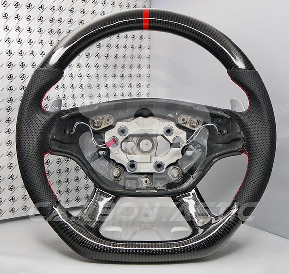 2007+ CL/S-Class Custom Carbon Fiber Steering Wheel With Paddle Shifter