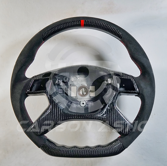 G-Class Custom Carbon Fiber Steering Wheel With Paddle Shifter Style 2