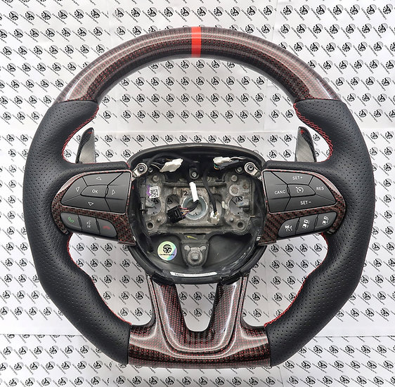 2015-2019 Charger/Challenger SRT Custom Carbon Steering Wheel Paddle Shifted